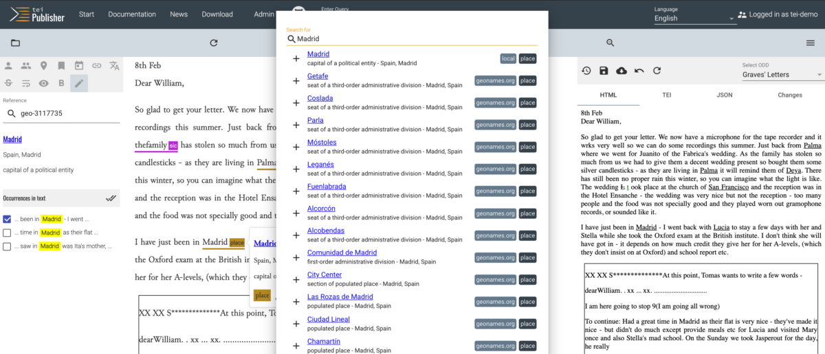 Annotation editor released with new TEI Publisher 7.1.0